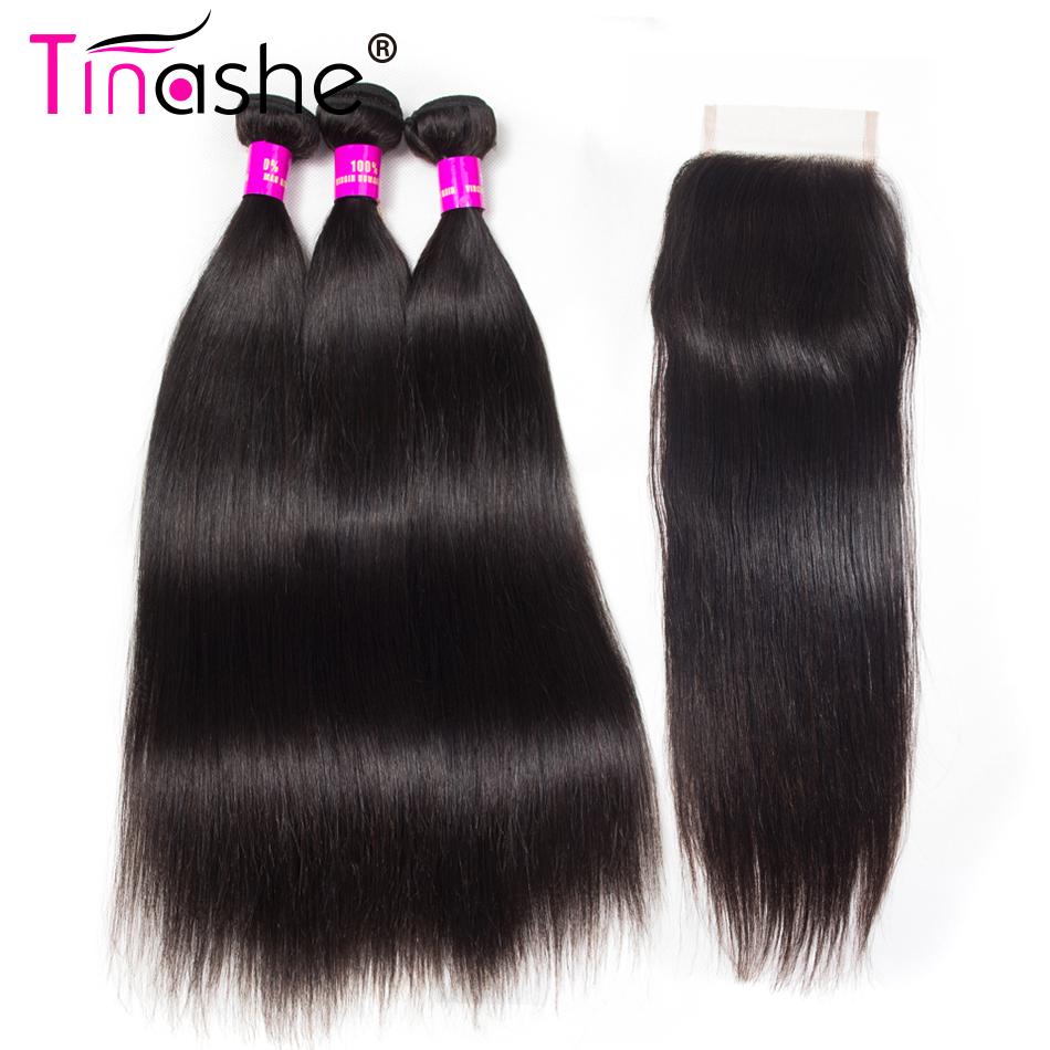 [해외]Tinashe Hair 브라질 스트레이트 헤어 위브 3 번들 클로즈 레미 헤어 위브 인간 헤어 번들 클로저/Tinashe Hair Brazilian Straight Hair Weave 3 BundlesClosure Remy Hair Weave Human Hair
