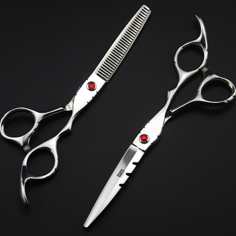 [해외]5.5 인치 전문 일본 kasho 머리 가위 이발소 가위 scissorsthinning & amp; 컷 스타일/5.5 inch professional Japan kasho hair scissors hairdressing scissors barber sci