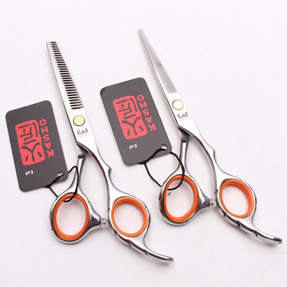 [해외]H1009 6inch JP 철강 Kasho 전문 인간의 머리가 위 이발사 미용 커팅 가위 얇은 가위 스타일링 도구/H1009 6inch JP Steel Kasho Professional Human Hair Scissors Barbers Hairdressing C