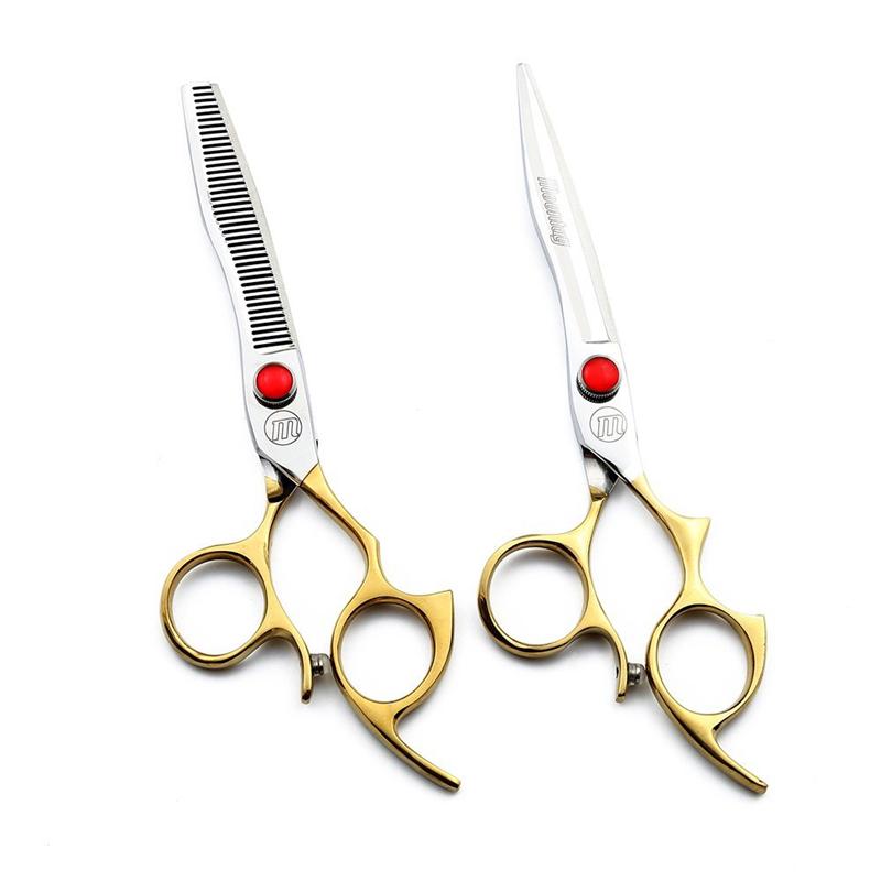 [해외]미용 가위 세트 가위 절단기 가위 6.5 인치 가위 골든 핸들 슈퍼 일본 440C Moontay TOP CLASS NEW/Hairdressing Scissors Set Cutting THinning Shears 6.5 Inch Scissors Golden Han