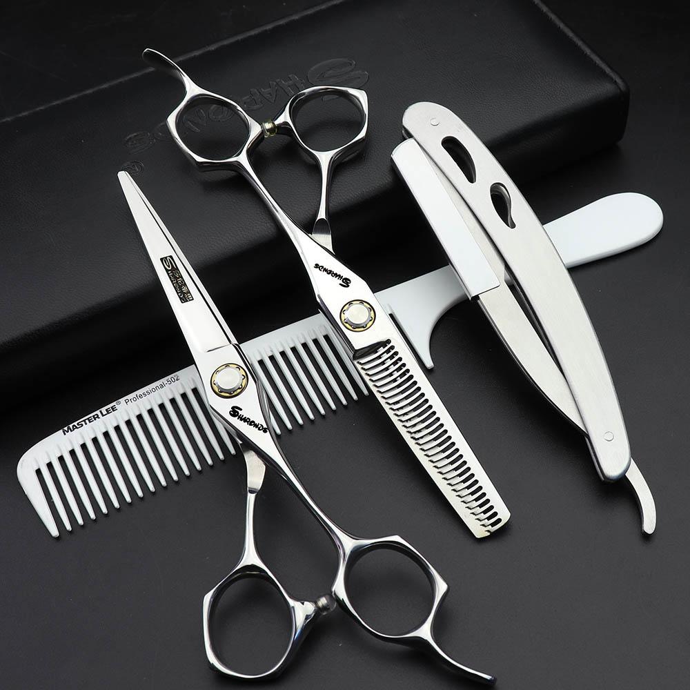 [해외]Sharonds 6 인치 살롱 전문 미용 가위 세트 일본 수입 절단 가위 & amp; 숱이 가위/Sharonds  6 inch salon professional hairdressing scissors set Japan imported cutting she