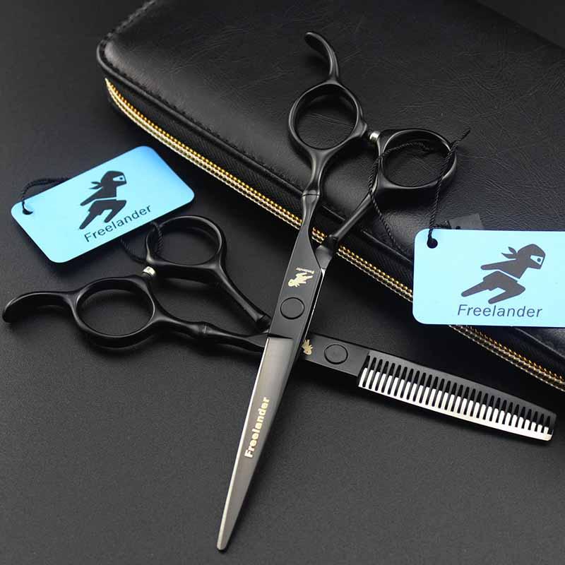 [해외]전문 6inch 검은 머리 절단 가위 가위 대나무 손잡이 헤어 티타늄 살롱 Hot 가위 이발소 - 공급 - 공급/Professional 6inch Black Hair Cutting Thinning Scissor Bamboo Handle Hairdressing T