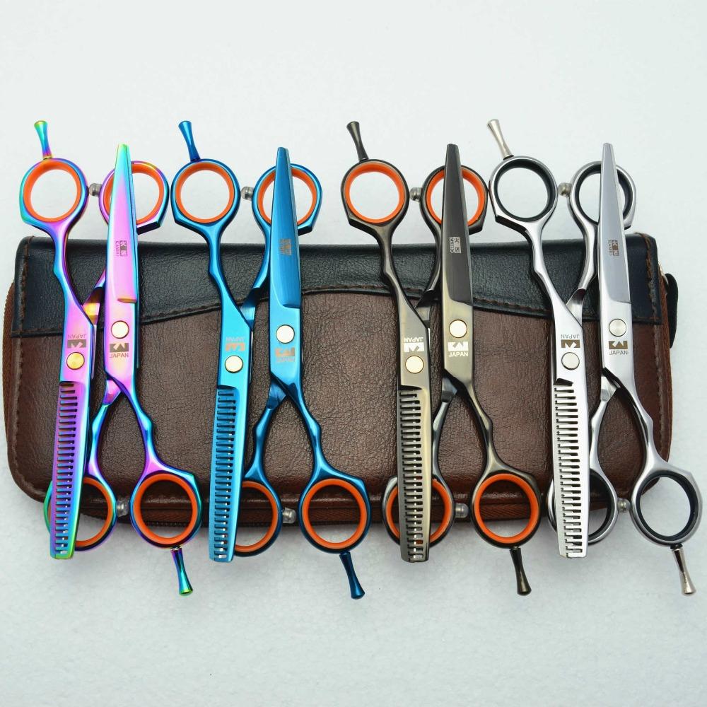 [해외]6.0 && 일본 Kasho 440C 4 색 헤어 가위 가위 미용 도구 가위 스타일링 도구 가위 미용 가위/6.0&& Japan Kasho 440C 4 Color Hair Scissors hairdressing scissors cutting thi
