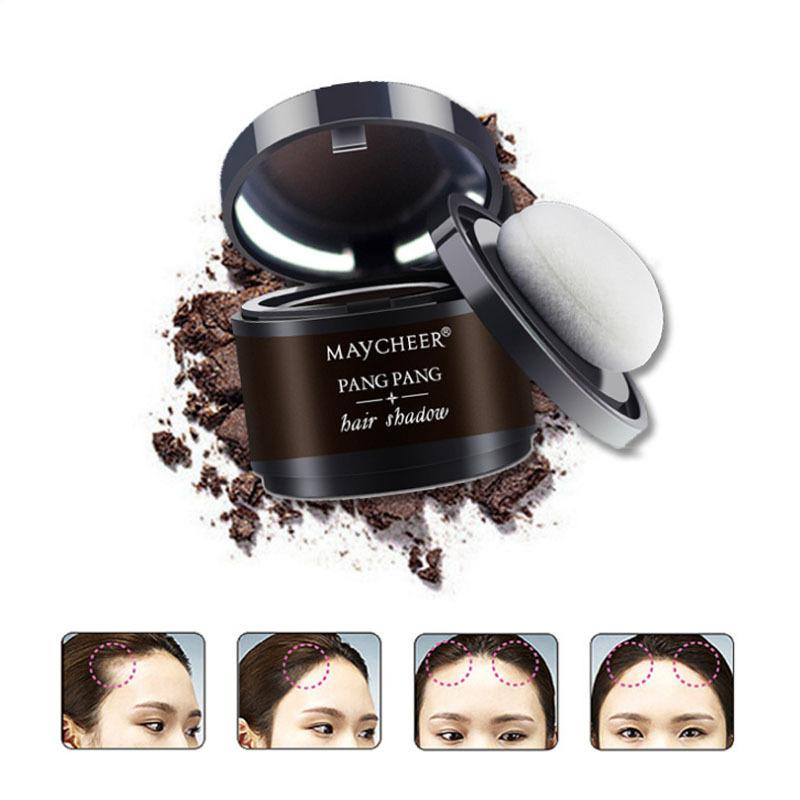 [해외]ELECOOL 브라운 모발 털이 파우더 즉시 블랙 루트 커버 업 자연 인스턴트 헤어 라인 섀도우 파우더 헤어 컨실러 커버 걸/ELECOOL Brown Hair Fluffy Powder Instantly Black Root Cover Up Natural Insta
