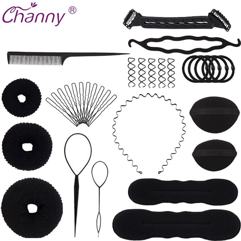 [해외]새로운 매직 헤어 스타일링 액세서리 세트 Braider 헤어핀 롤빵 제조기 머리 Braiding 트위스트 경기자 스타일링 도구/New Magic Hair Styling Accessories Set Braiders Hair Pin Bun Roller Maker H