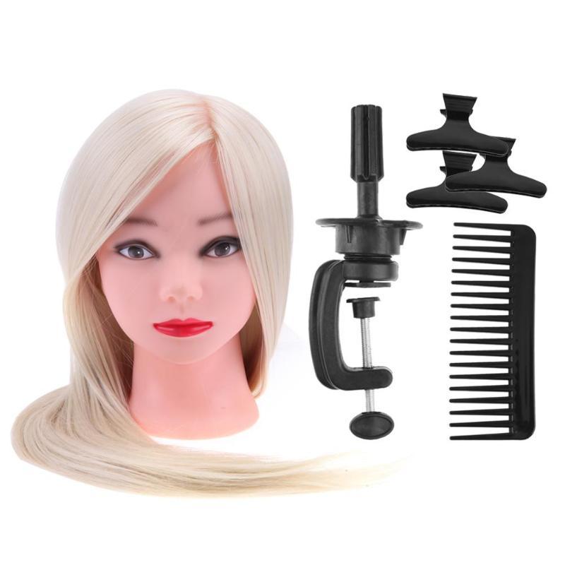[해외]마네킹 HeadBracket Salon Hairdressing 빗 클립 헤어 스타일링 트레이닝 도구 Mannequin Hairstyling Braid Practice/Mannequins HeadBracket Salon Hairdressing Comb Clips