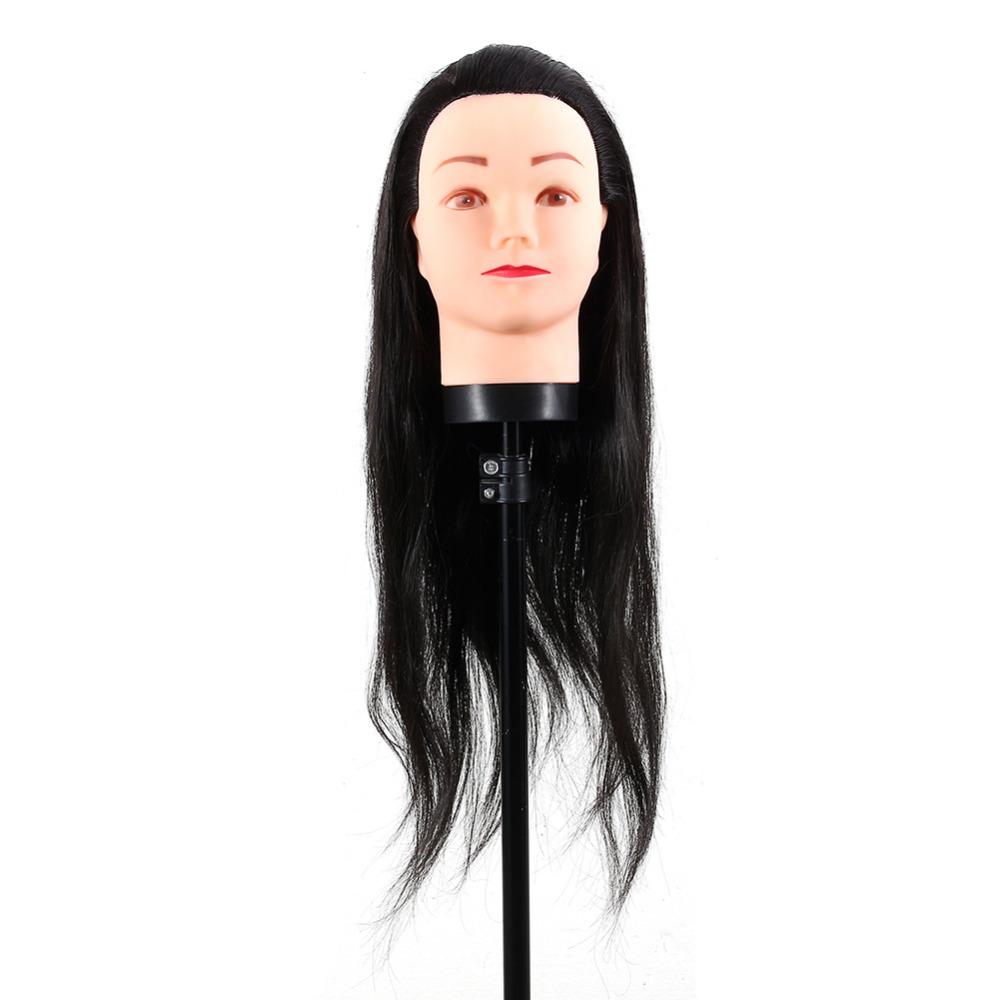 [해외]Hairdressing Dummy Head 이발사 교육 마네킹 Hairdressing Mannequin DollClamp 검은 머리카락 액세서리/Hairdressing Dummy Head Barber Hairdresser Training Mannequin Hai