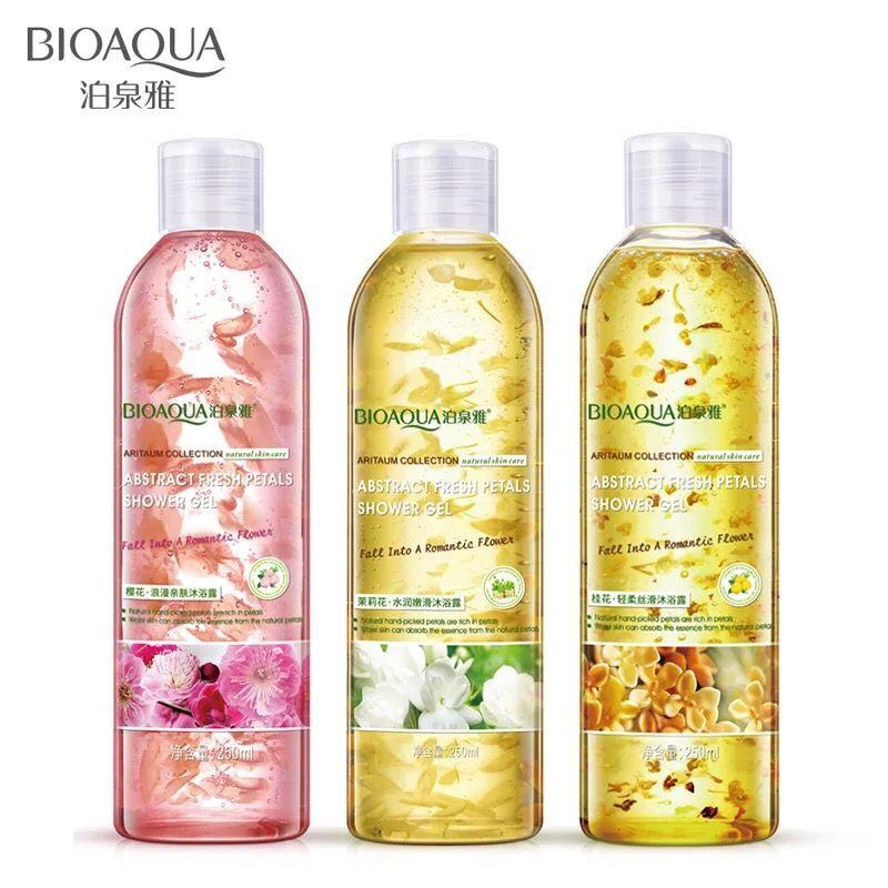 [해외]BIOAQUA 브랜드 250ml 플라워 페탈 즈 바디 워시 샤워 젤 향수 향수 화이트닝 배쓰 로션 소프트 모이스춰 라이징 바디 스킨 케어/BIOAQUA Brand 250ml Flower Petals Body Wash Shower Gel Perfume Fragra