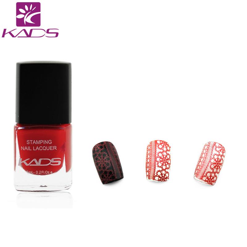 [해외]KADS 핫 트렌드 네일 아트 스탬핑 옻칠 클래식 레드 오래 지속되는 네일 인쇄 폴란드 여성 소녀 DIY 네일 아트 데코레이션/KADS Hot Trend Nail Art Stamping Lacquer Classic Red Long-lasting Nail Prin