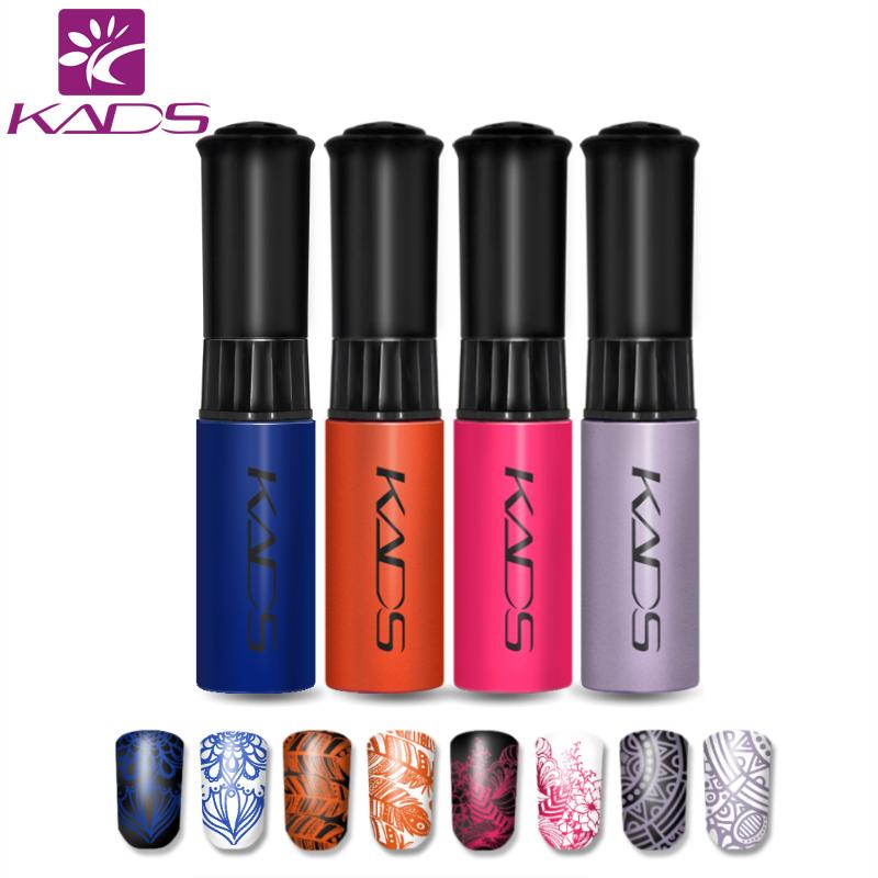 [해외]KADS 핫 패션 4pcs / set 네일 스탬프 인쇄 폴란드어 손톱 매니큐어 옻칠 장식 아름다움 네일 아트 도구 최고 품질/KADS Hot Fashion 4pcs/set nail stamping Print polish Nail Manicure Lacquer D