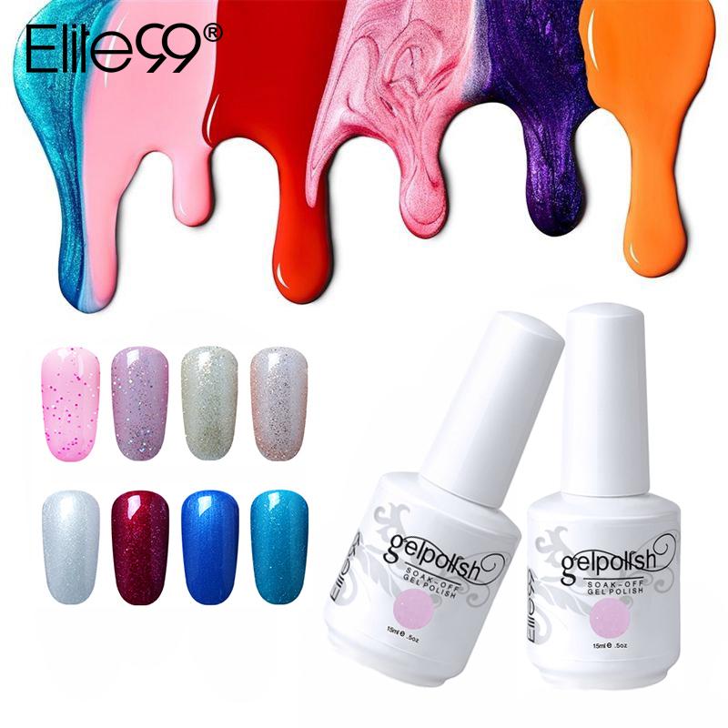 [해외]Elite99 15ml 네일 폴란드어 UV 젤 네일 폴란드어 세미 퍼머넌트 네일 젤 래커 큐어 드 UV 램프 네일 젤 바니시/Elite99 15ml Nail Polish Soak Off UV Gel Nail Polish Semi Permanent Nail Gel