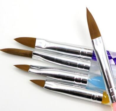 [해외]?5 조각 5 크기 네일 아트 펜 브러쉬에 대 한 전문 아크릴 액체 UV 젤 네일 아크릴 파우더/ 5 Pieces Five Size  Professional Acrylic Liquid For Nail Art Pen Brush UV Gel Nail Acrylic