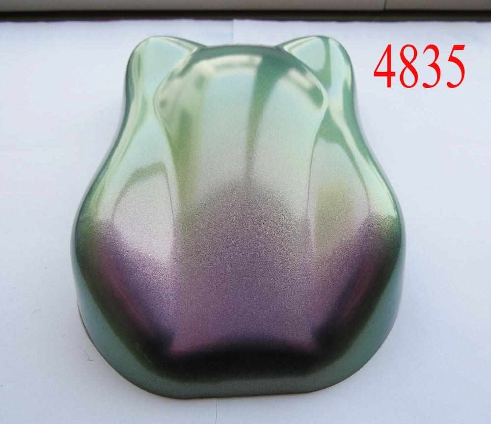 [해외]슈퍼 4 색 교대 안료 분말, 카멜레온 안료, 변경 가능한 진주 안료, 1lot = 200g 4835 녹색 / 금색 / 흰색 / 빨간색,/super 4 color shift pigment powder,chameleon pigment, changeable pear