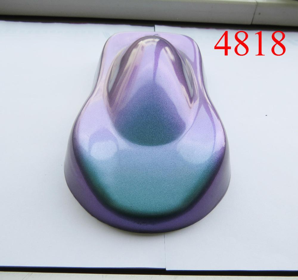 [해외]슈퍼 카멜레온 안료, 3 색 이동 안료, 카멜레온 진주 파우더, 1 로트 = 10 그램 4818 바이올렛 / 블루 / 그린,/sell super chameleon pigment, 3 color shift pigment, chameleon pearl powder,
