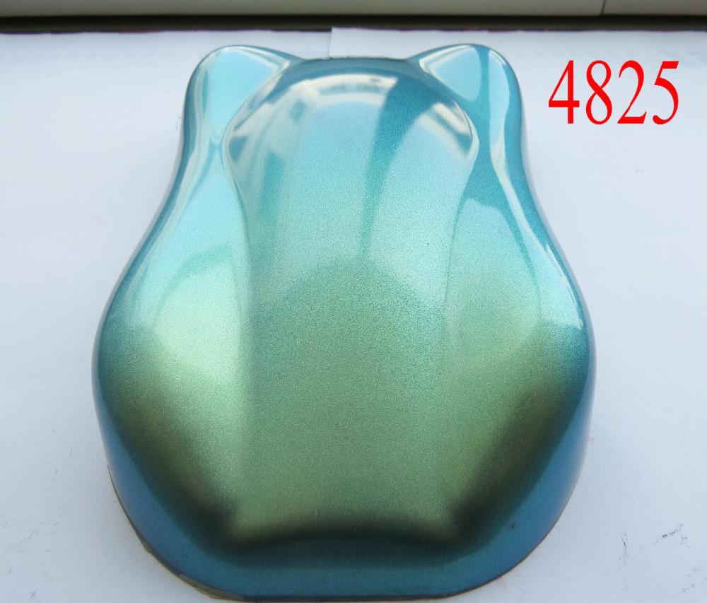 [해외]판매 품질 슈퍼 카멜레온 안료, 색상 변경 진주 안료 분말, 1 롯트 = 100gram 4825 청색 / 녹색 / 금색,/sell quality super chameleon pigment, color change pearl pigment powder, 1 lot