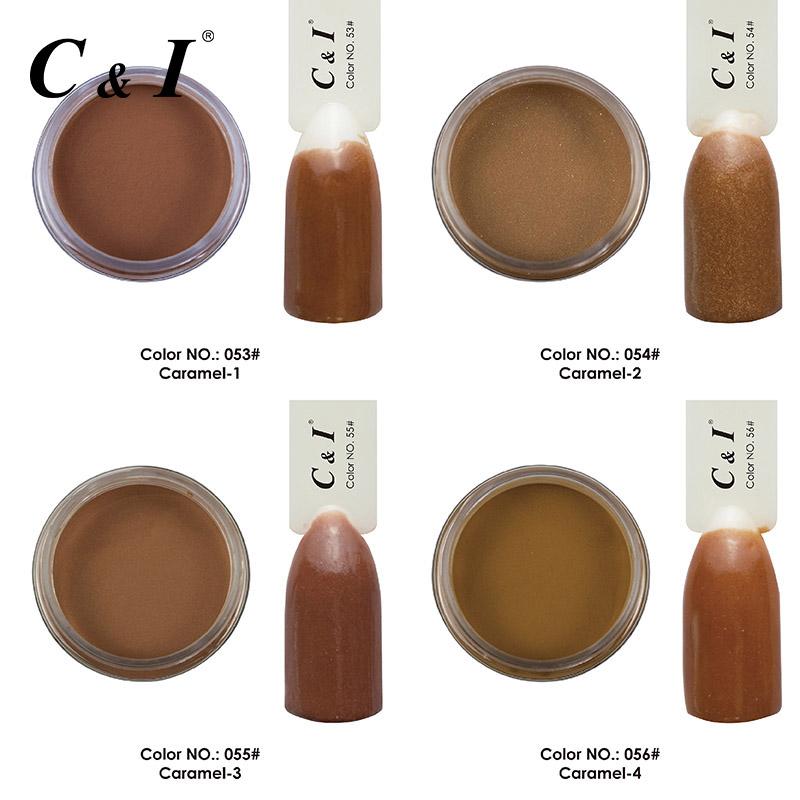 [해외]28g 담금질 파우더 캐러멜 컬러 시리즈 4 색 선택/28g Dipping Powder Caramel Color Series 4 Colors for Choose