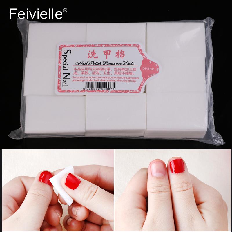[해외]Feivielle 1000 개 LKE 닦아내 면화 냅킨 린트 프리 젤 매니큐어 리무버 네일 아트 도구 매니큐어 손톱 린트 패드 용 용지/Feivielle 1000 Pcs LKE Wipes Cotton Napkins Lint-Free Gel Nail Polish