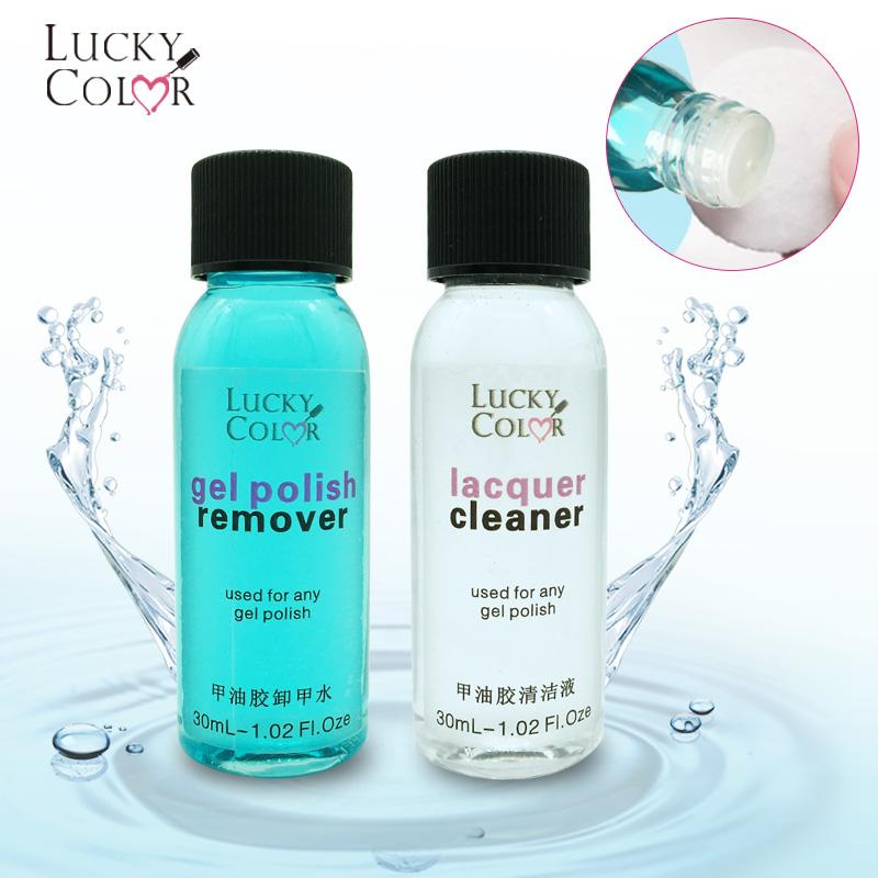 [해외]행운의 색 새 젤 폴란드어 제거 액체 리무버 제거 UV 네일 폴란드어 광택 클리너 Degreaser 1 병 30ML 제거/Lucky Color New Gel Polish Remove Liquid Soak Off Remover for Removing UV Nail