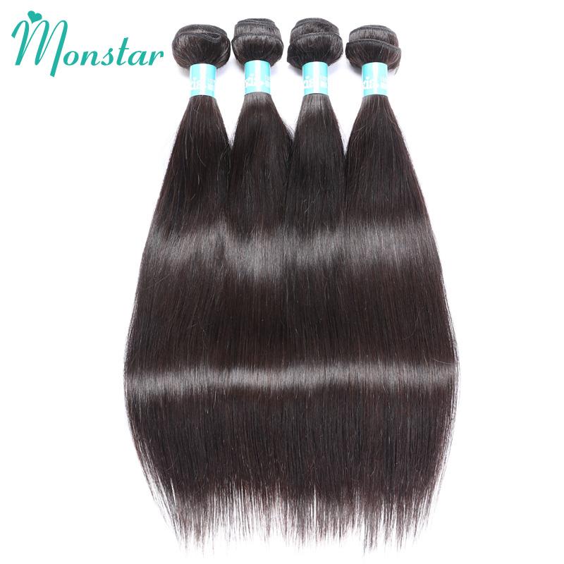 [해외]Monstar 헤어 번들 10 PC 페루 버진 헤어 스트레이트 인간의 짜다 머리 Weft 자연 색상 8 - 30 인치/Monstar Hair Wholesale Bundles 10 PC Peruvian Virgin Hair Straight Human Weave H