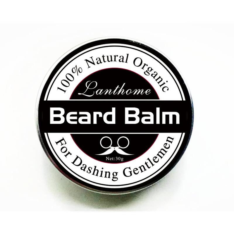 [해외]천연 수염 기름 조절기 밤 콧수염 영양 모이스춰 라이징 스무딩 크림 유기농 수염 왁스/Natural Beard Oil Conditioner Balm Mustache Nourishes Moisturizing Smoothing Cream Organic Beard W