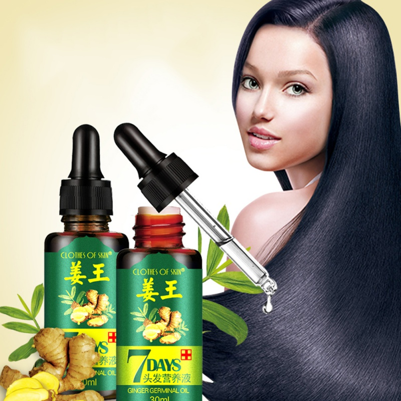 [해외]생강 킹 7 일 모발 에센셜 오일 모발 관리 오일 미용 헤어 마스크 에센셜 오일 건조하고 손상된 모발 영양/Ginger King 7 Days Hair Essential Oil Hair Care Oil Hairdressing Hair Mask Essential O