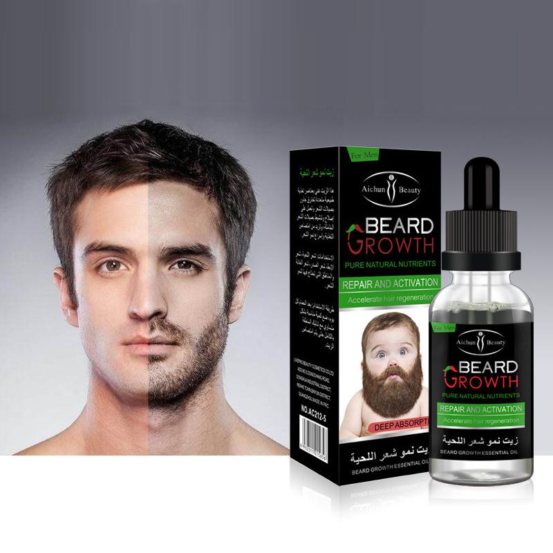 [해외]Y & W & amp; F 1 병 30ML 천연 남성 & 비어드 성장 솔루션 온화한 유지 관리 모발 성장 수염 성장 에센셜 오일 모든 유형/Y&W&F 1 Botttle 30ML Natural Men&s Beard Growth