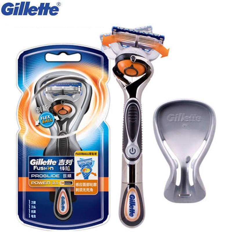 [해외]전원 전기 면도 면도기 남성의 경우 깨끗한 질레트 퓨전 Proglide Flexbal 면도 기계 1 면도기 손잡이 1 면도날/Power Electric Shaving Razor For Men  Face Clean Gillette Fusion Proglide Fl