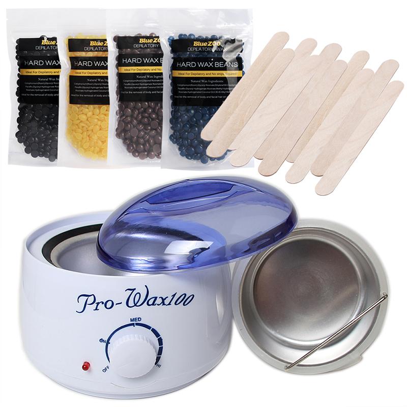 [해외]녹는 왁스 기계 세트 아니 스트립  하드 왁스 콩 펠렛 제모 Hot 필름 따뜻한 냄비 녹는 왁스 그릇 EU 플러그/Melting Wax Machine Set No Strip Depilatory Hard Wax Beans Pellet Hair Removal Hot