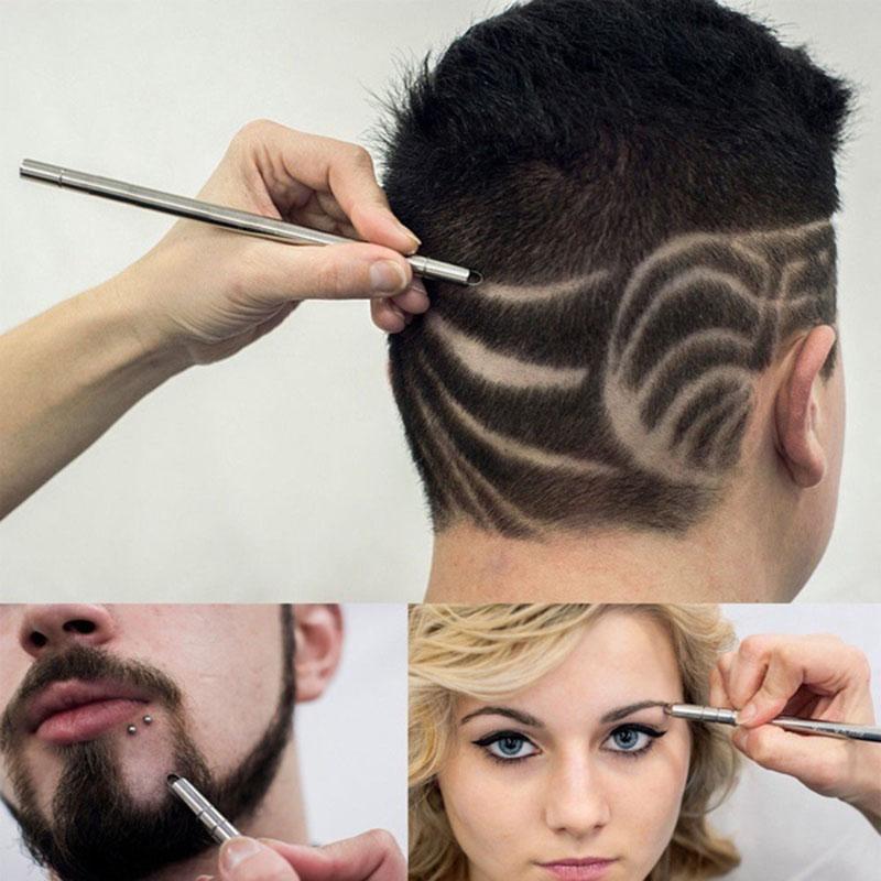 [해외]패션 펜 머리카락 세련된 면도칼 펜 면도칼 면도기 면도기 면도기 펜 마술 오일 머리 노치 사람 머리 세련된/Fashion Hair carving pen magic oil head notch man hair refined steel razor pen barber
