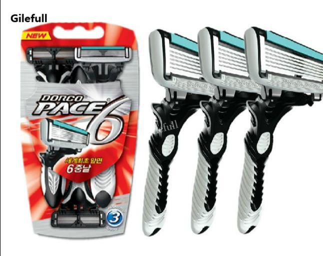 [해외]오리지널 DORCO 3Pcs / Lot 면도날 남성용 면도기 6 레이어 면도기 여행용 면도기 3pcs RazorsHandle/Original DORCO 3Pcs/Lot Razor Blade For Men&s Razor 6 Layer Shaver Travel Ma