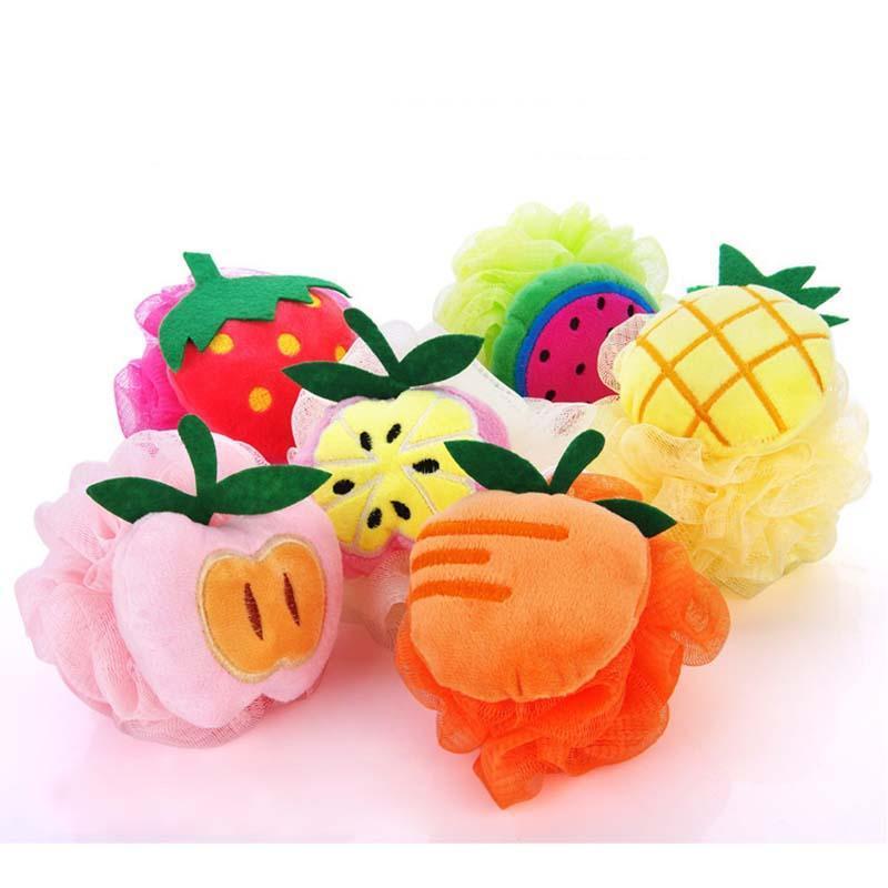 [해외]1 pc 바디 엑스 폴리 에이 팅 목욕 볼 목욕 스폰지 마찰 화장실 샤워 꽃 볼 6 색 만화 과일 모양 D3/1 pc Body Exfoliate Bath Ball Bath Sponge Rubbing Bathroom Shower Flowers Balls 6 Col