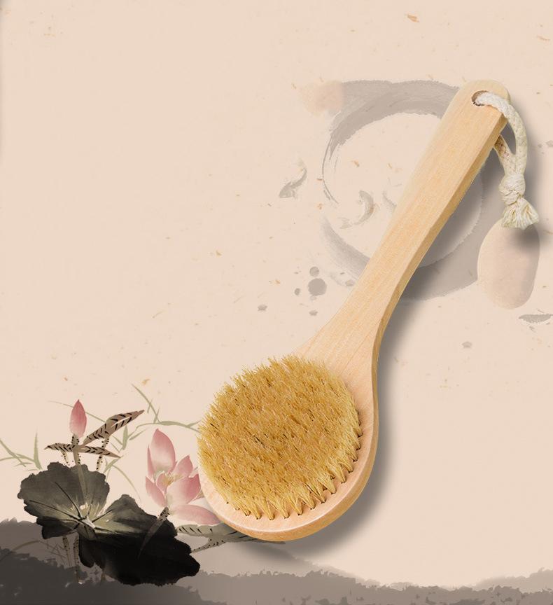 [해외]?새로운 자연 다름 긴 나무 욕조 샤워 몸 위로 스파 브러쉬 핸들/ New Natural Bristle Long Handle Wooden Bath Shower Body Back Spa Brush