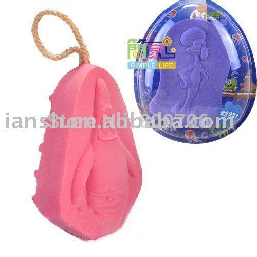 [해외]4 최고 등급 베이비 키즈 밥 목욕 샤워 스폰지 수세미 없음 자극 샤워하지/4 Top Grade  Baby Kids Bob Bath Shower Sponge Scrubbers Shower No Irritation