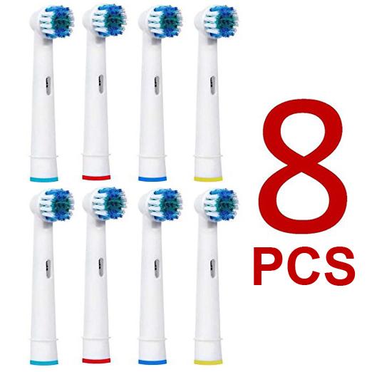 [해외]구강-B 전동 칫솔 고급 전원 / 활력 정밀 클린 / 프로 건강 / 승리 / 3D Excel 용 8PCS 교체 브러시 헤드/8pcs Replacement Brush Heads For Oral-B Electric Toothbrush Advance Power/Vit