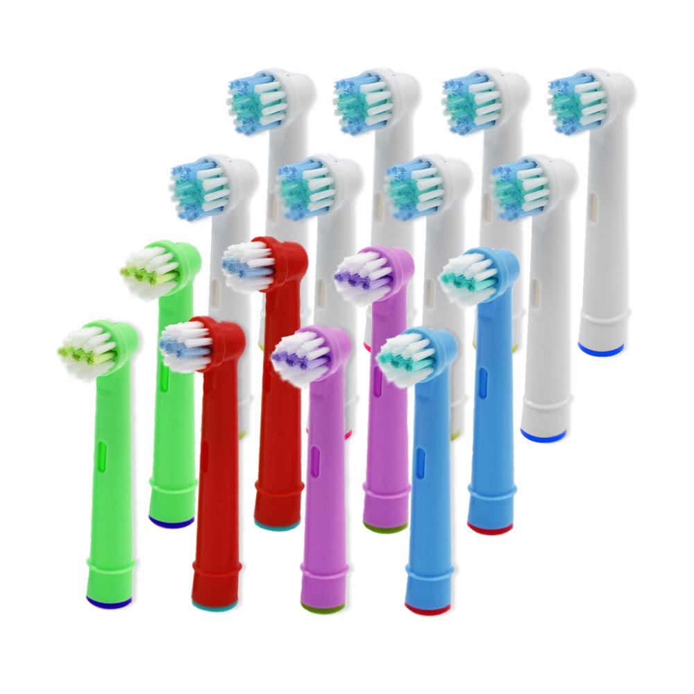 [해외]구강 - B 전동 칫솔 맞는 사전 프로 건강 / 승리 / 3D에 대한 교체 어린이 KidsAdult 칫솔 헤드/16pcs Replacement Kids ChildrenAdult toothbrush Heads For Oral-B Electric Toothbrush