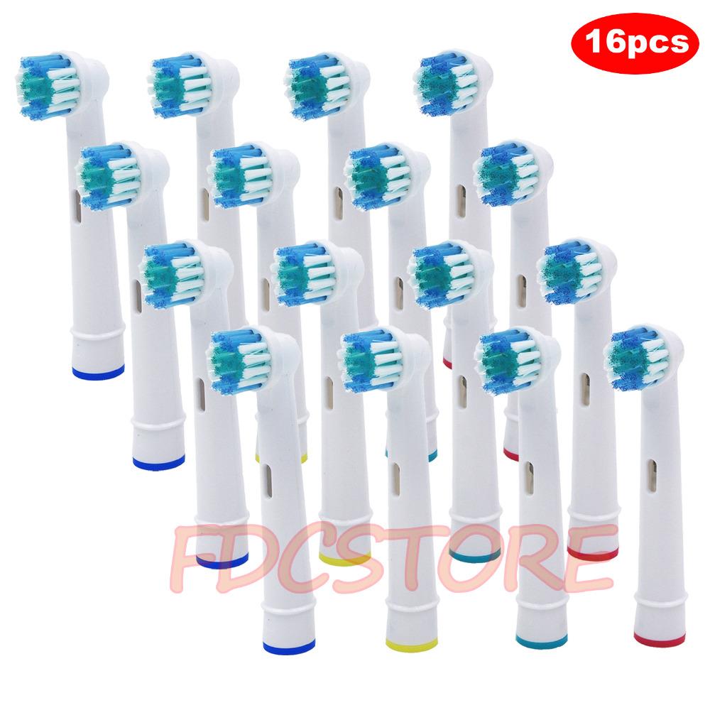 [해외]구강 B 전기 칫솔 용 교체 용 브러시 헤드 Advance Power / Pro 건강 / Triumph / 3D Excel / Vitality Precision Clean/16pcs Replacement Brush Heads For Oral-B Electric