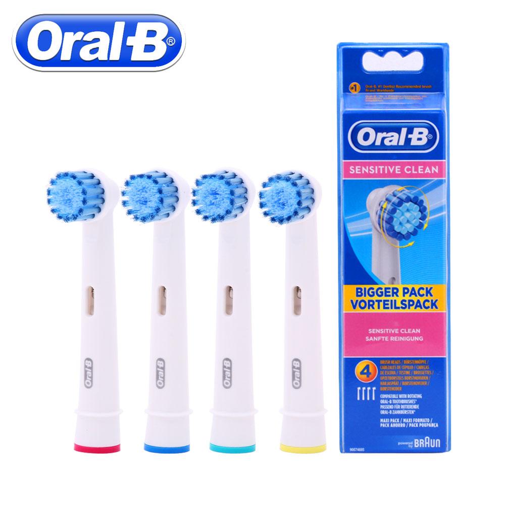 [해외]4pc / Pack Oral B Braun Sensitive Replacement 전기 칫솔 헤드 Braun Oral B Vitality 전동 칫솔 헤드/4pc/Pack Oral B Braun Sensitive Replacement Electric Toothbr