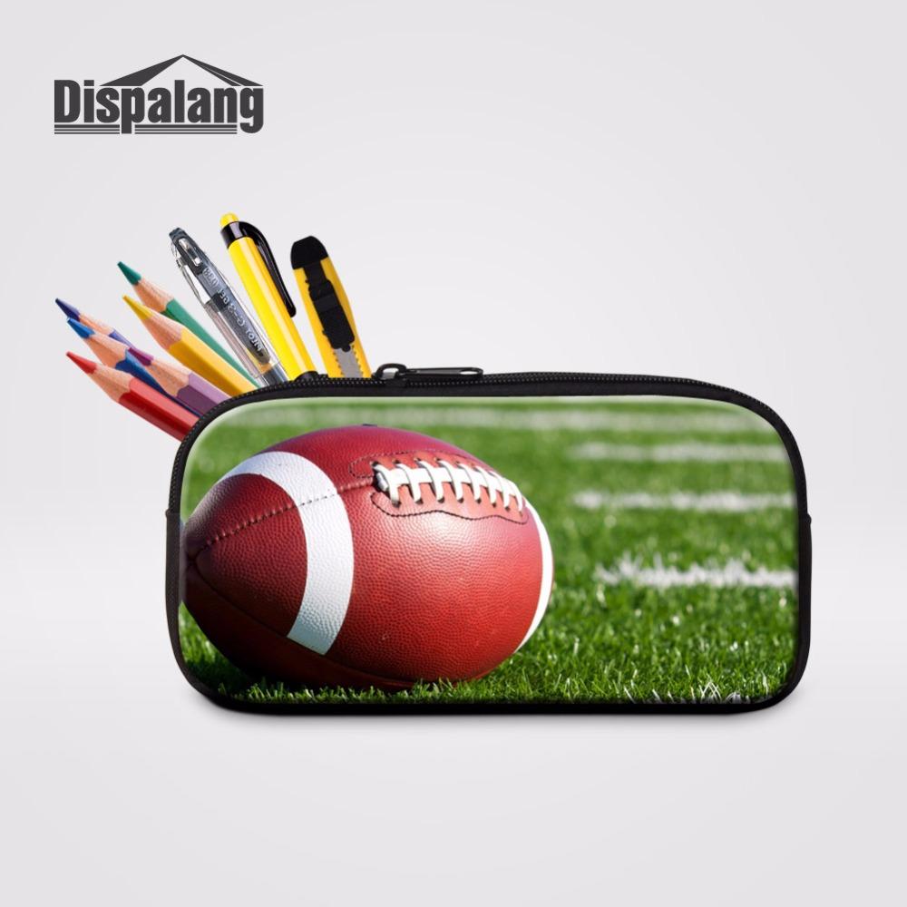 [해외]Dispalang American Footballs Prints Storage Pencilbox 여성 미니 화장품 케이스 어린이 연필 케이스 주최자 가방 만들기/Dispalang American Footballs Prints Storage Pencilbox Wo