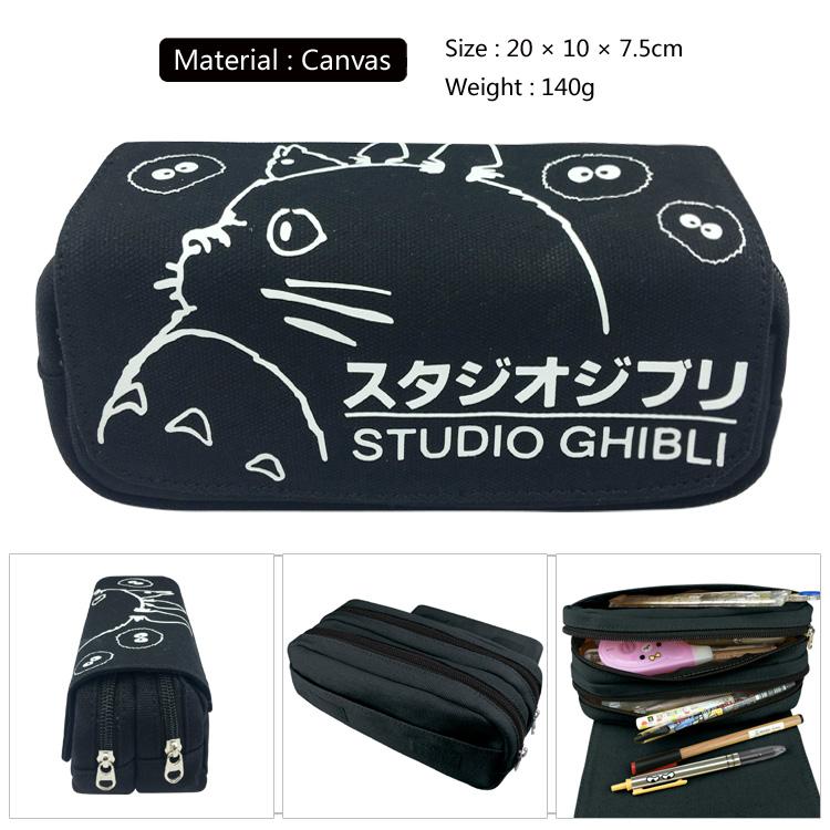 [해외]이웃집 토토로 캔버스 펜슬 케이스 펜 가방 핸드백 메이크업 백 화장품 파우치/My Neighbor Totoro Canvas Pencil Case Pen Bag Handbags Makeup Bag Cosmetic Pouch