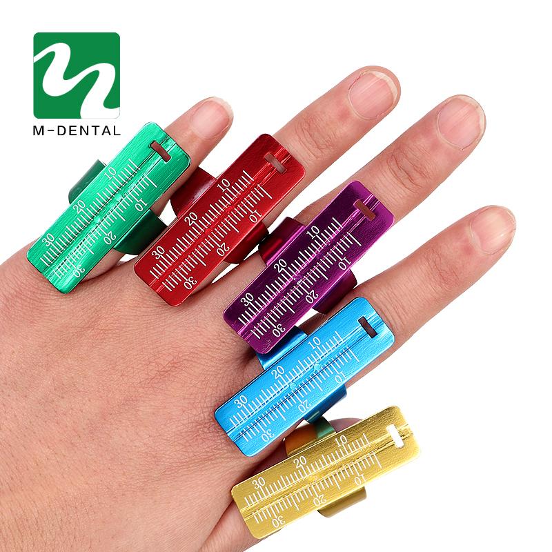 [해외]5 개 세트 다채로운 알루미늄 치과 엔도 핑거 눈금자 스팬 측정 스케일 치열 교정 치과기구 손가락 눈금자/5 pcs Colorful Aluminium Dental Endo Finger Rulers Span Measure Scale Endodontic Dental