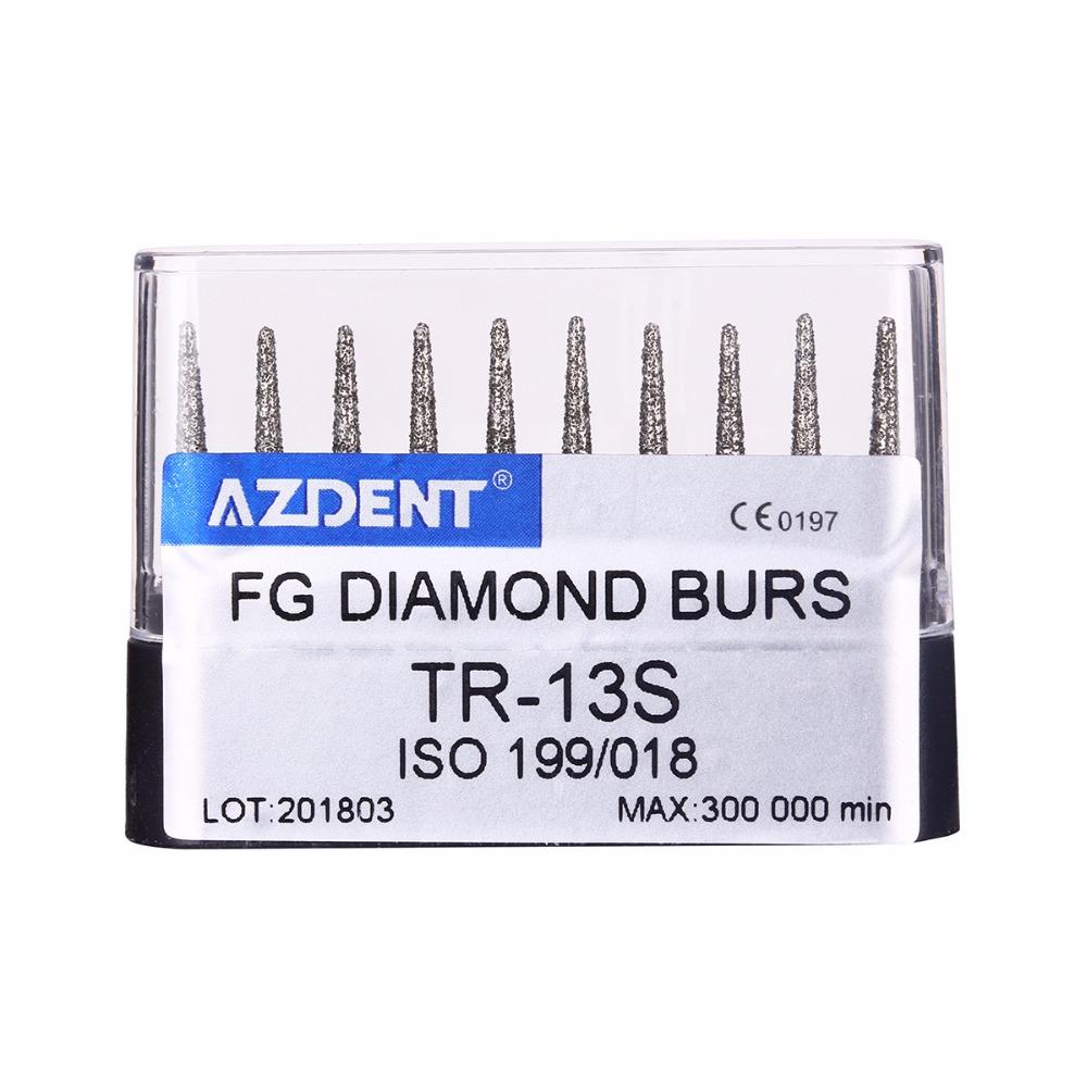 [해외]10 PC / 세트 치과 고속 다이아몬드 Burs TR-13S 치과 의사 도구 치아 화이트닝 Matreial 치과 실험실 도구/10 pcs/set Dental High Speed Diamond Burs TR-13S Dentist Tools Teeth Whiten