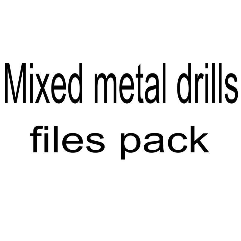 [해외]치과 혼합 금속 훈련 파일 팩/Dental mixed metal drills files pack