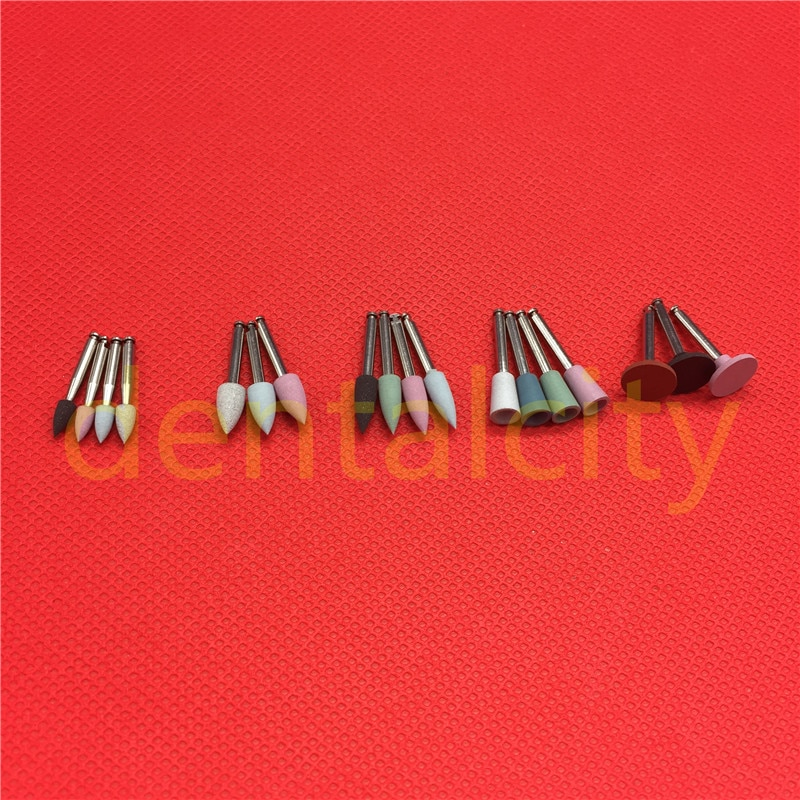 [해외]치과 실험실 2.35mm 다이아몬드 버선 컵 래치 유형 모듬 된 실리콘 폴리 셔 18pcs/Dental Lab 2.35mm Diamond Burs Cups Latch type Assorted Silicone Polisher 18pcs