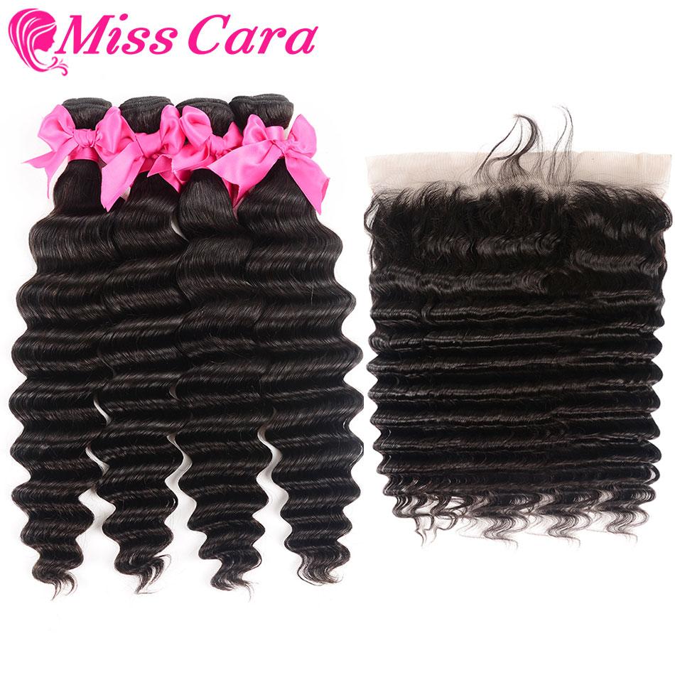 [해외]Miss Cara 느슨한 딥 레이스 정면 ClosureBundles 페루의 헤어 번들 더 웨이브 레미 인간의 머리카락 번들 프론트 엔드/Miss Cara Loose Deep Lace Frontal ClosureBundles Peruvian Hair  Bundle