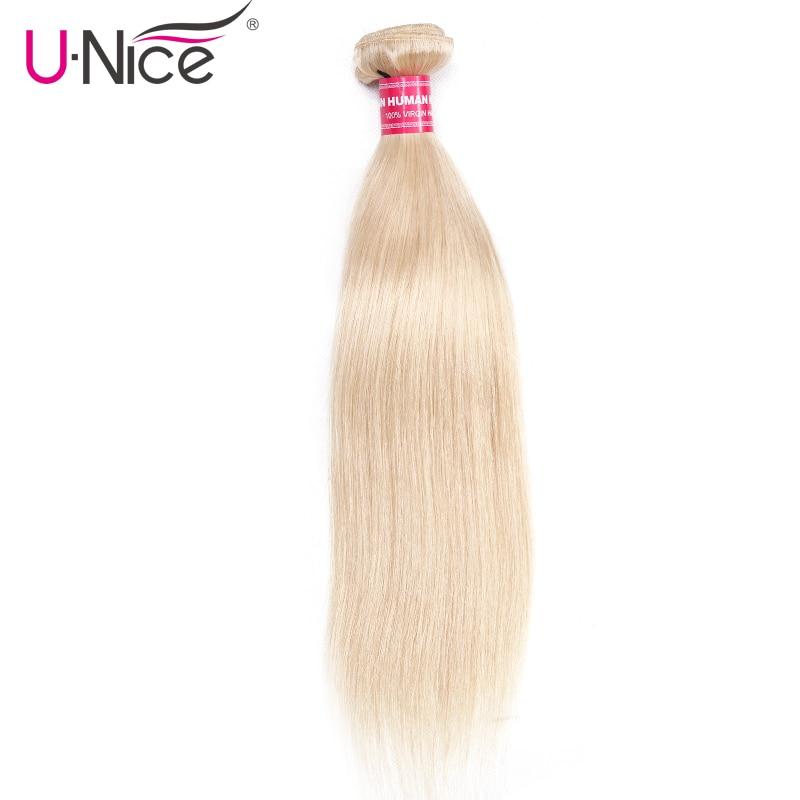 [해외]Unice Hair Company 브라질 스트레이트 헤어 인간 헤어 익스텐션 10 ~ 24 Inch 1 PCS 613 Blonde Bundles 레미 헤어 위빙