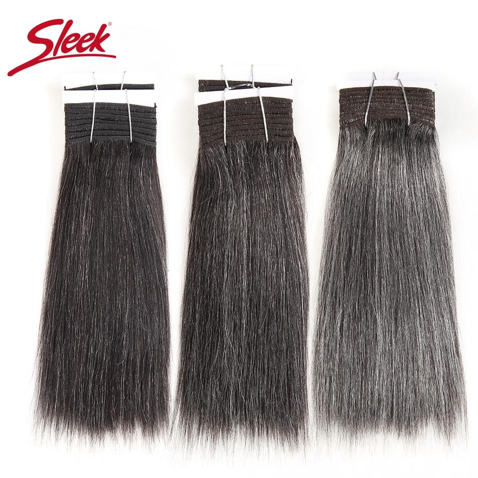 [해외]Sleek Colorful Hair Brazilian Hair Weave Bundles Straight Hair bundles 44 34 280 51 Piano Gray Remy Human Hair Extensions/Sleek Colorful Hair Braz