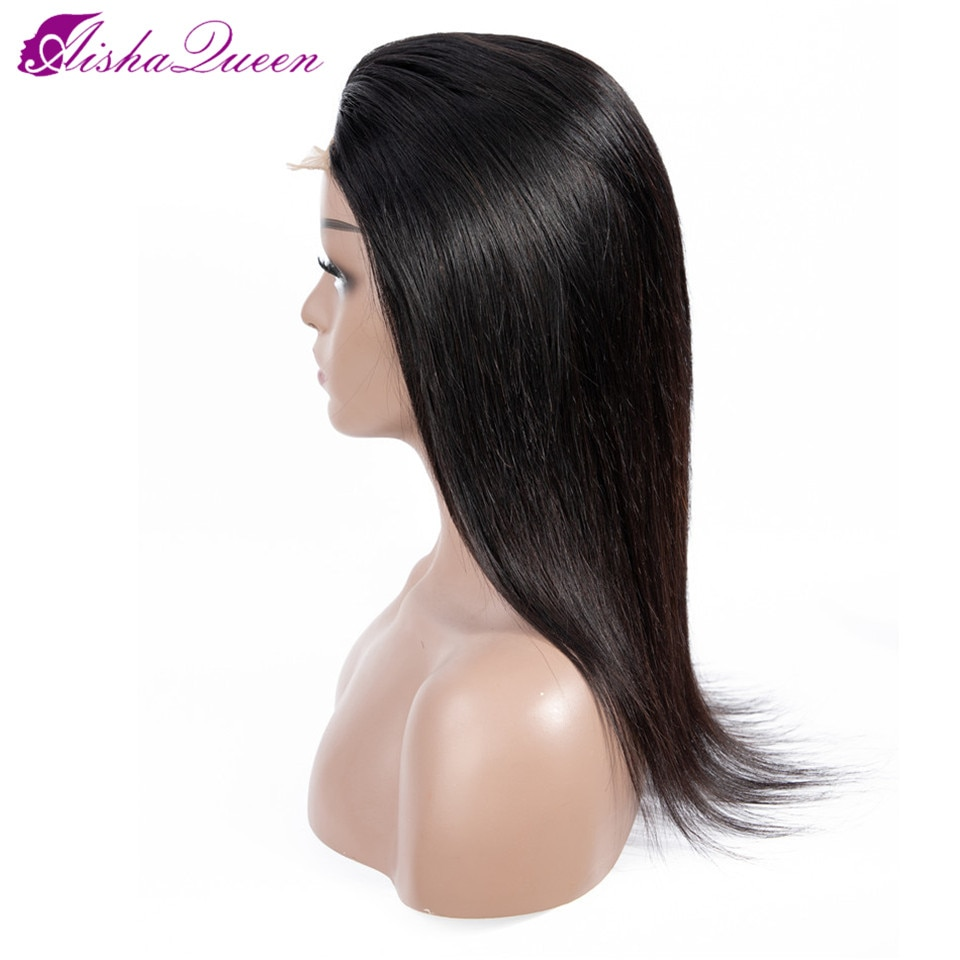 [해외]Aisha Queen Lace Front Human Hair Wigs Malaysian Straight Lace Frontal Wig Pre Plucked U Part Non Remy Natural Color Wig/Aisha Queen Lace Front Hu