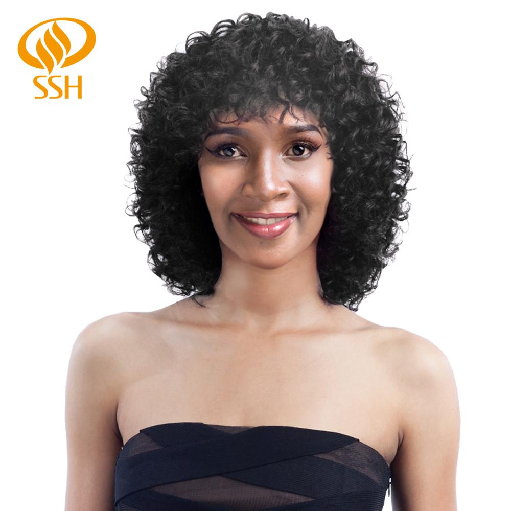 [해외]Ssh 짧은 인간의 머리가 발 비-레미 느슨한 깊은 가발 여성 100% 인간의 머리 기계/Ssh 짧은 인간의 머리가 발 비-레미 느슨한 깊은 가발 여성 100% 인간의 머리 기계
