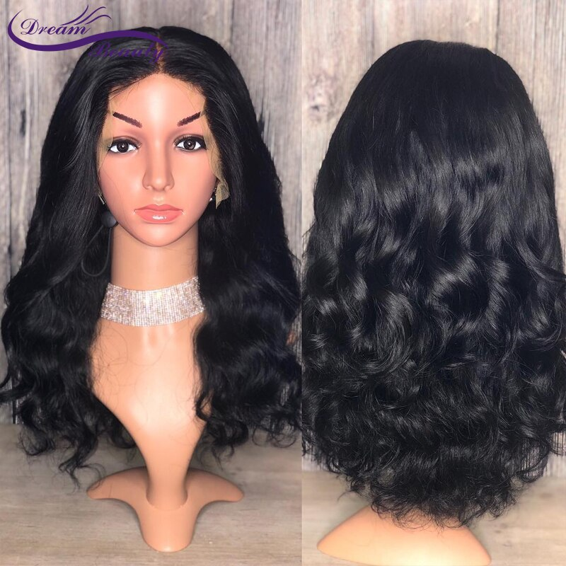 [해외]Dream Beauty 250% Density Brazilian Lace Front Wigs 12-24 Inch Remy Hair Pre Plucked Human Hair Curly Wigs Natural Hairline/Dream Beauty 250% Dens