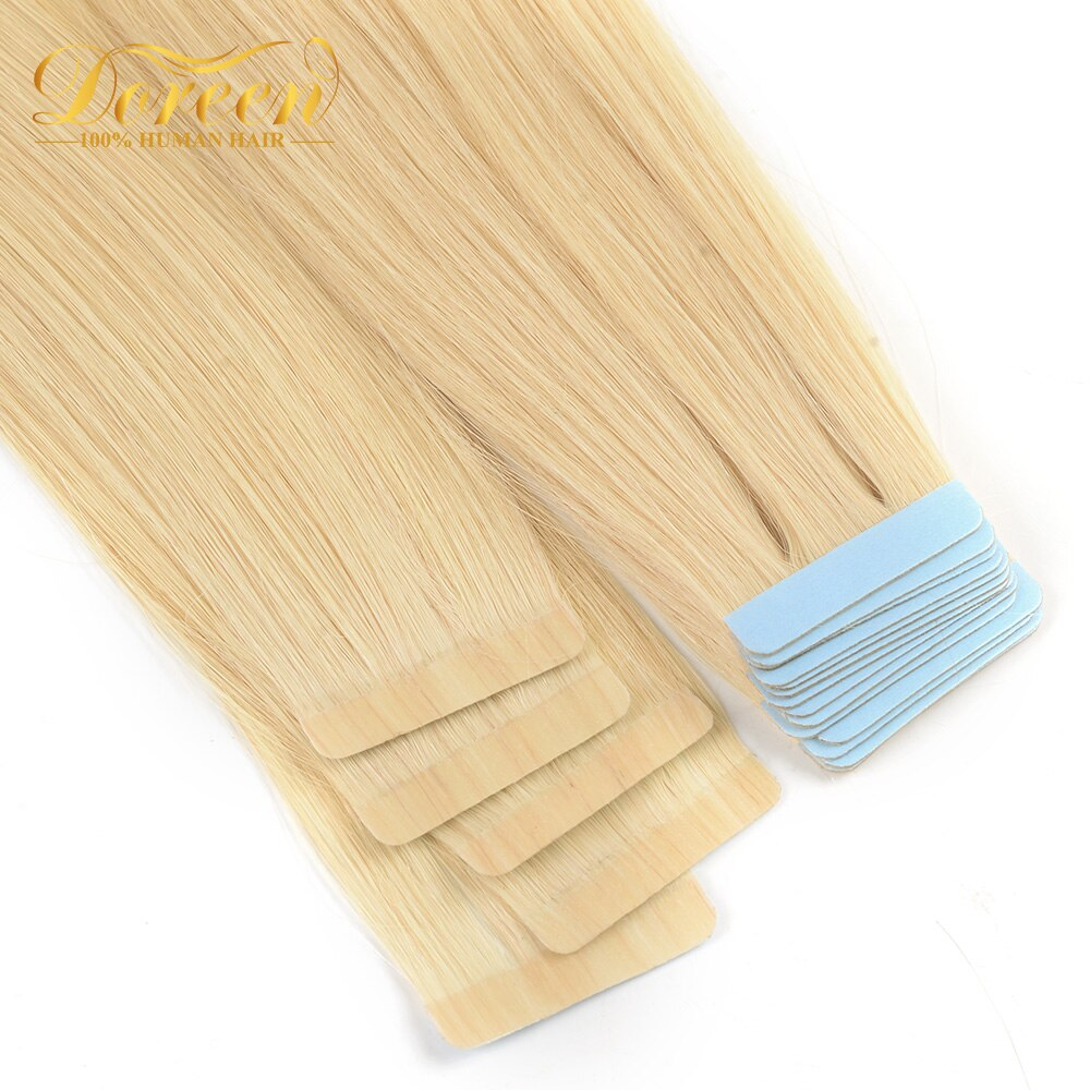 [해외]Doreen Tape In  Machine Made Remy Human Hair Extensions 16 to 22inch 20pcs 50g/pack Silky Straight Tape PU Seamless Skin Weft/Doreen Tape In  Mach